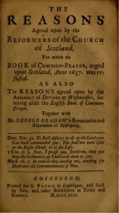 Casting the Stool - reasons title page 1744