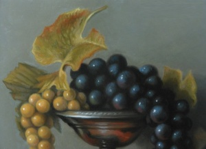 Grapes in Vase Detail