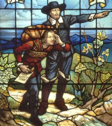 bunyan-meeting-evangelist-points-the-way-window