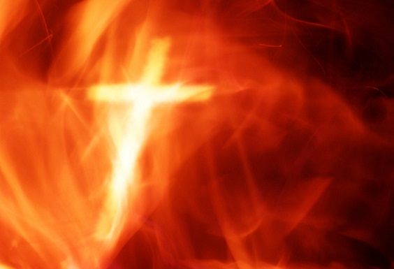 Image result for cross crucifixion Christ fire
