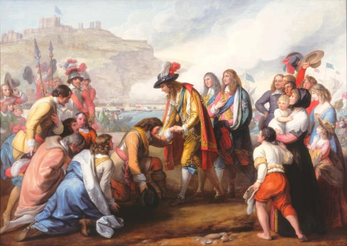 General Monck Receiving Charles II on the Beaches of Dover