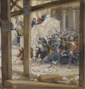 Pharisees stone Jesus