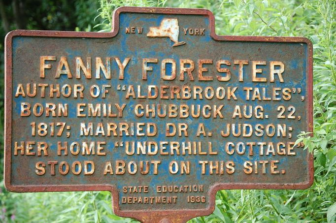800px-New_York_State_historic_marker_–_Fanny_Forester
