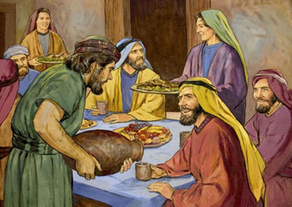 Wedding Feast At Cana.A Vision Of The Gospel Jesus At His Friend S Feast Regeneration