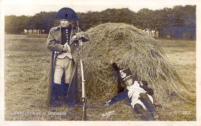 Pathe Freres, Napoleon, RPPC film still, 1904