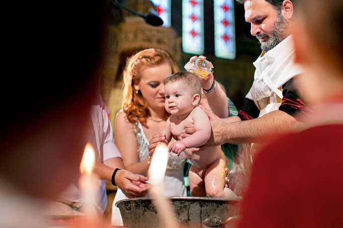 The moment of Christening