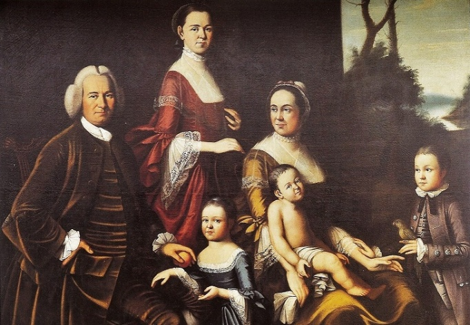 2 Henry Benbridge (1743-1812)  Gordon Family (his stepfather & mother Mary Clark Benbridge Gordon) 1763-65